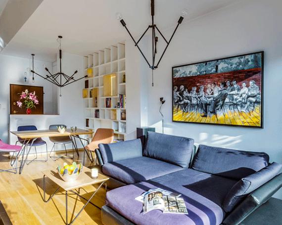 Wnętrza prywatne – apartament w Libertowie