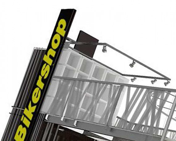 Projekt stoiska targowego Bikershop