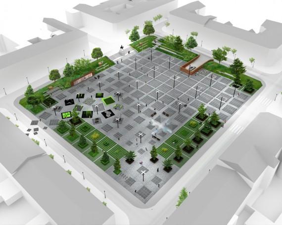 Plac Wolności w Kielcach – konkurs