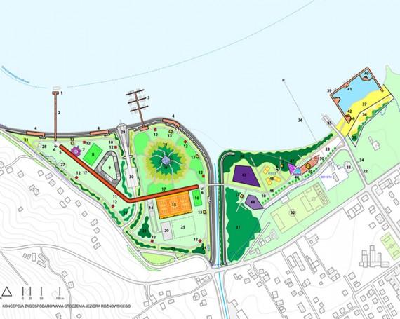 Koncepcja zagospodarowania terenów wokół jeziora Rożnowskiego