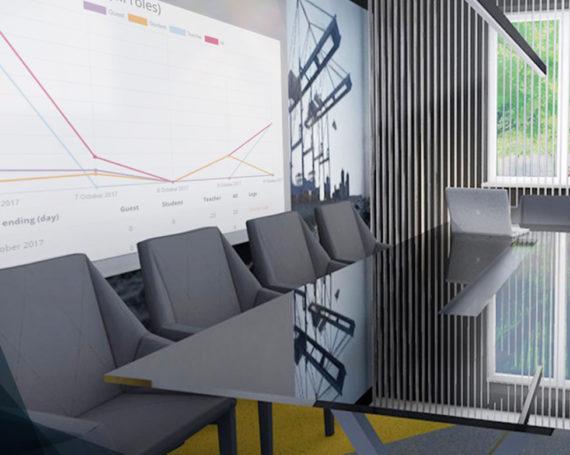 Aranżacja przestrzeni biurowej branży IT